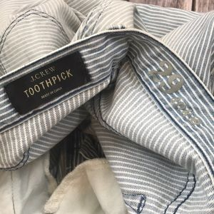 Nice J.crew Railroad Toothpick Skinny Pinstripe Zipper 29 Jeans Clothing, Shoes & Accessories